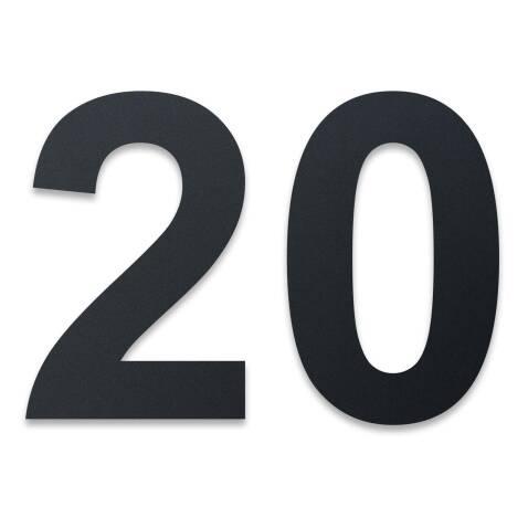 Edelstahl Hausnummer im XXL DESIGN Straight 20 cm, 1